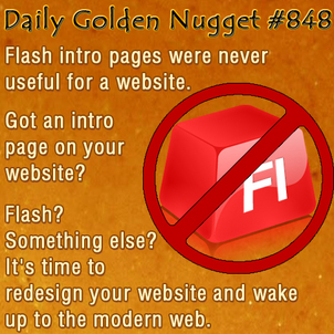 Google Doesnt Like Flash or Flash Intro Pages 9985-daily-golden-nugget-848