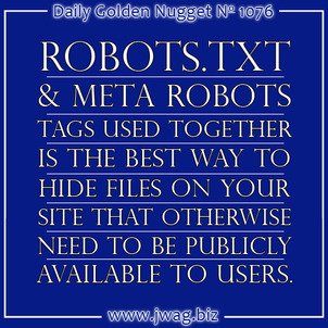 Robots.txt and Meta Robots - A Beginners Guide daily-golden-nugget-1076-91