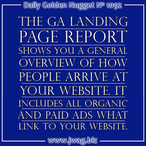 Google Analytics: Landing Page Report daily-golden-nugget-1092-89