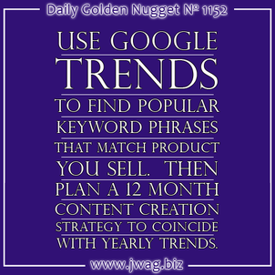 Researching Keywords for your Content Marketing daily-golden-nugget-1152-68