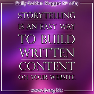 Use Storytelling to Build Valuable Website Content daily-golden-nugget-1189-36