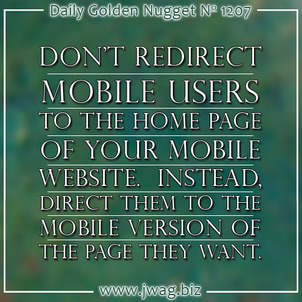 Avoid the Faulty Mobile Redirect daily-golden-nugget-1207-5