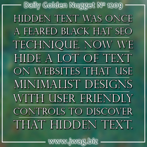 Hidden Text On Your Website Can Sometimes Be Used For Good daily-golden-nugget-1209-99