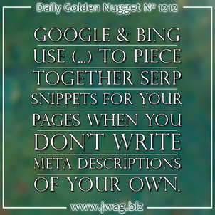 The Use of Ellipses ... in Meta Descriptions daily-golden-nugget-1212-33