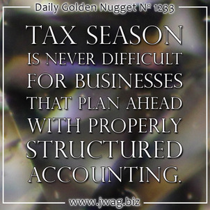 Dont Stress Over Income Tax; Plan Ahead With Better Accounting daily-golden-nugget-1233-33