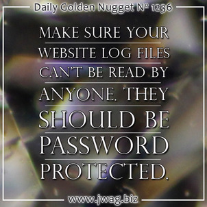 Website Log Files Contain Personally Identifiable Informatio daily-golden-nugget-1236-66