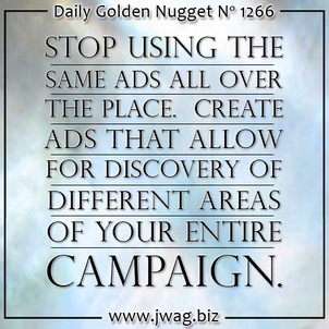 Create Marketing Campaigns That Allow For Natural Discovery of the Full Message daily-golden-nugget-1266-23
