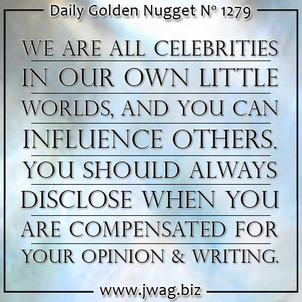 You Should Always Disclose Financial Compensation In Exchange For Online Endorsements TBT  daily-golden-nugget-1279-2
