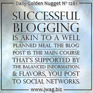 Blogging Is The Balanced Meal That Nourishes Your Website and Plumps Your Business daily-golden-nugget-1281-1