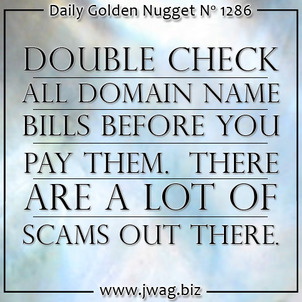Protect Yourself From Continued Domain Name Scams daily-golden-nugget-1286-8