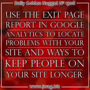 Exit Pages: Practical SEO Guide daily-golden-nugget-1308-14