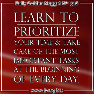 Time Management For The Retail Jeweler: Part 1 daily-golden-nugget-1326-45