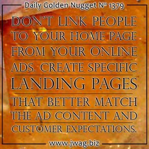 Landing Pages Help Prevent Distractions and Create Focus TBT daily-golden-nugget-1379-99