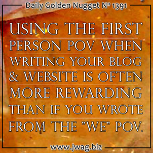 Does Your Website Properly Portray Your Business With the Use of Pronouns?  daily-golden-nugget-1391-60