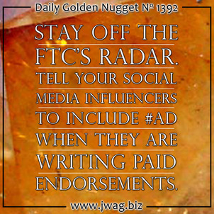 Stay of the FTCs Radar When Offering Paid Endorsements daily-golden-nugget-1392-49