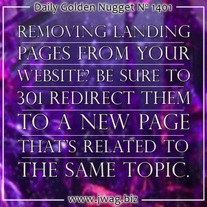 What To Do With Landing Pages Once A Marketing Campaign Is Over daily-golden-nugget-1401-37