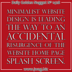 Minimalist Website Design Causes The Revival of The Splash Screen daily-golden-nugget-1428-42