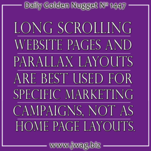 The Benefits of Using Long Scrolling Pages and Parallax Layouts on Your Website daily-golden-nugget-1447-12