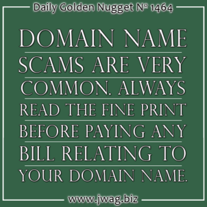 Domain Services Renewal and Search Engine Submission Service Scam TBT daily-golden-nugget-1464-18
