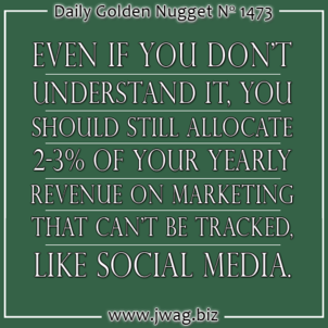 Social Media As The Minimum Marketing Effort to Maintain Customer Awareness of You daily-golden-nugget-1473-47