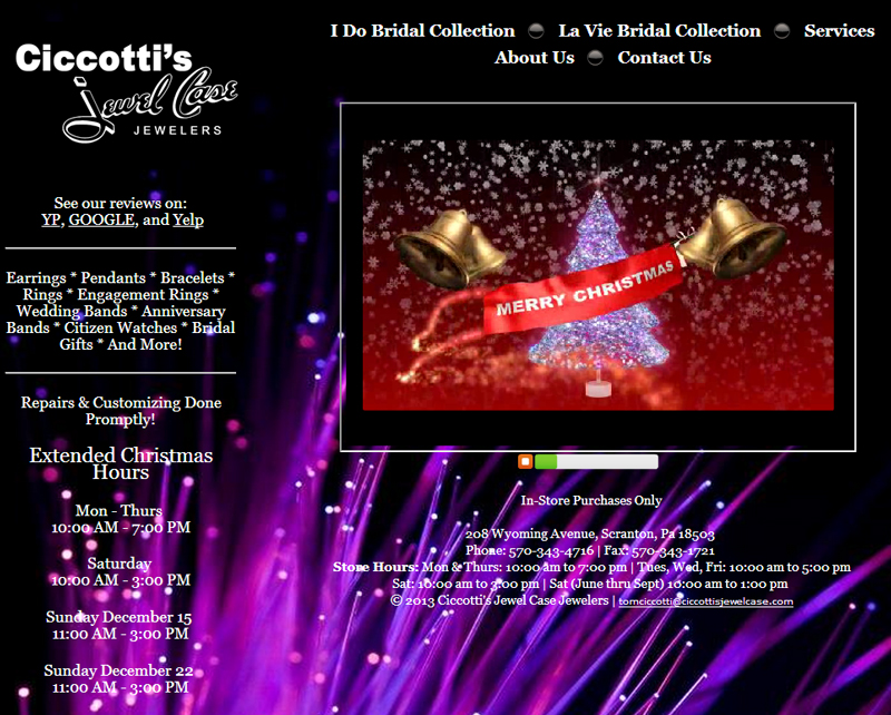 Ciccotti\'s Jewel Case Website Review